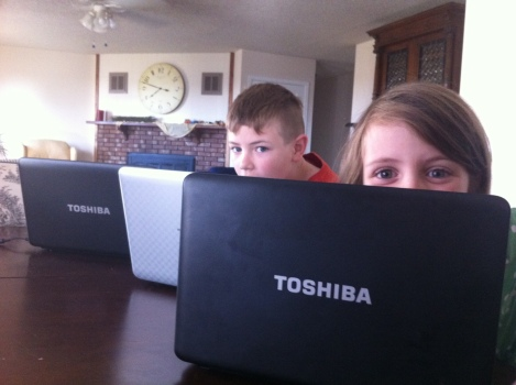 Toshiba Laptops in a row