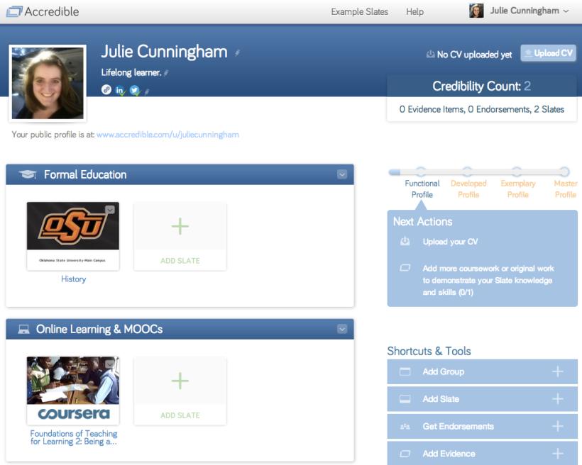Accredible Julie Cunningham